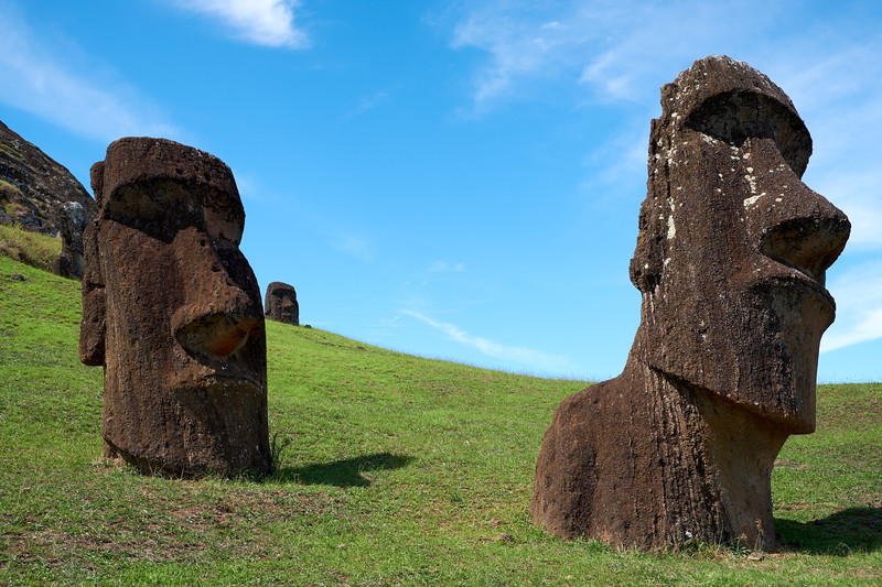 Each face of the Moai is that of an ancestor. They were carved to capture the spirit of the ancestors.