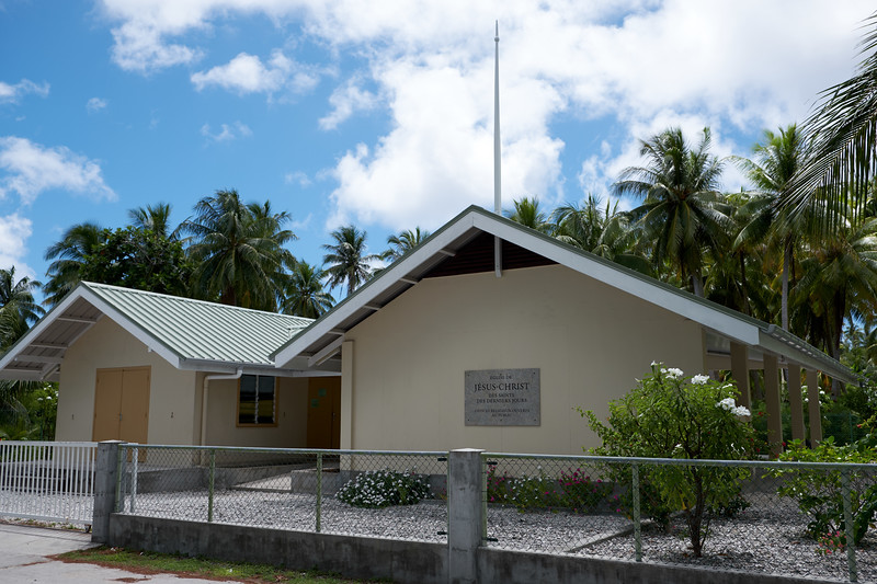 One of the churches on Fakarava. Much more simplistic than some of the other churches on the other islands.