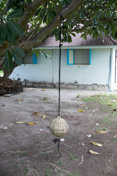 Creative use of a boat buoy... as a tree swing.