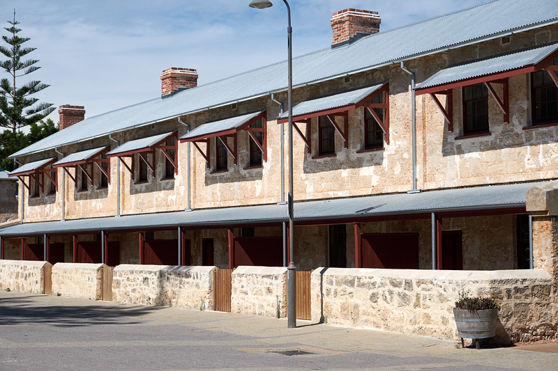 Old worker barracks that have not been restored.