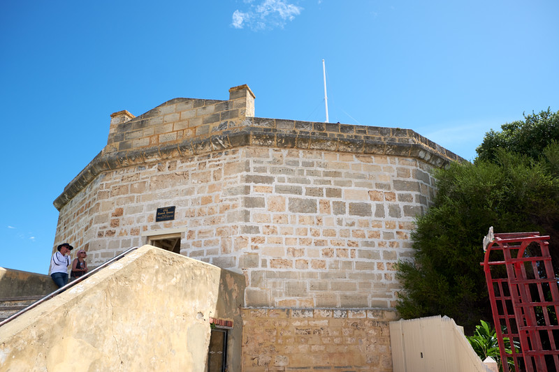 The Fremantle Gaol (Jail) or Round House is the oldest public building in Western Australia. It was built in 1831 soon after British free settlers established the Swan River Colony.
