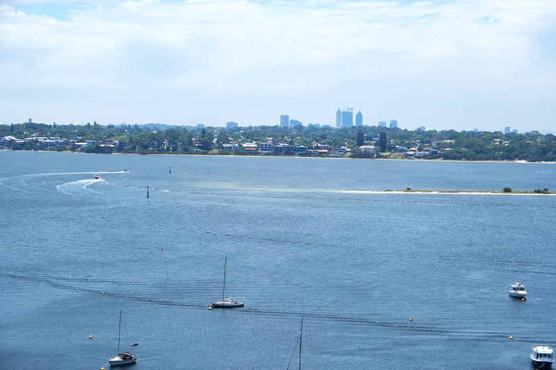 Looking north across the Swan River to Perth.