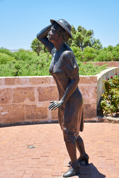 """The Waiitng Woman leans into the wind, frozen in time and gazes on the horizon. She is the all encompassing """"Waiting Woman"""" grieving for her menfolk."""