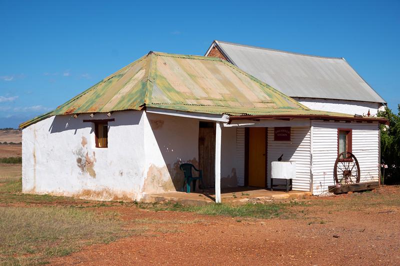 The external kitchen house.