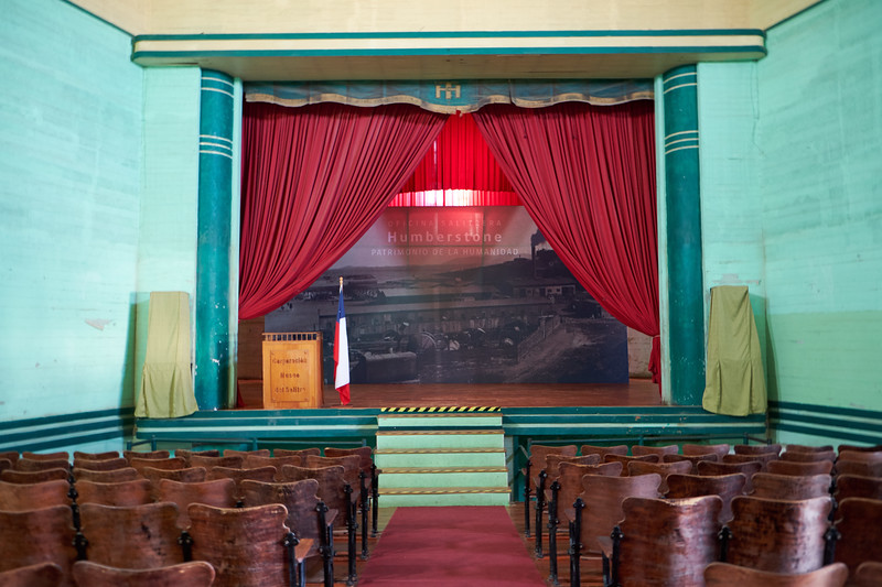 The Theatre was the an active part of the town's social life. This was the VIP section. At Humberstone's peak there was so much money flowing through here many entertainers came here before going to Santiago.