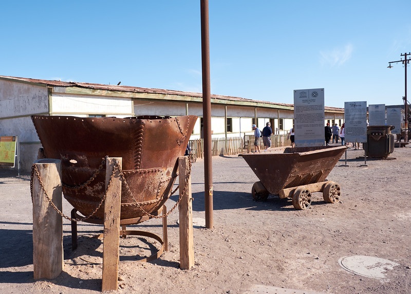 Mining tools on display in the Humberstone ghost town.