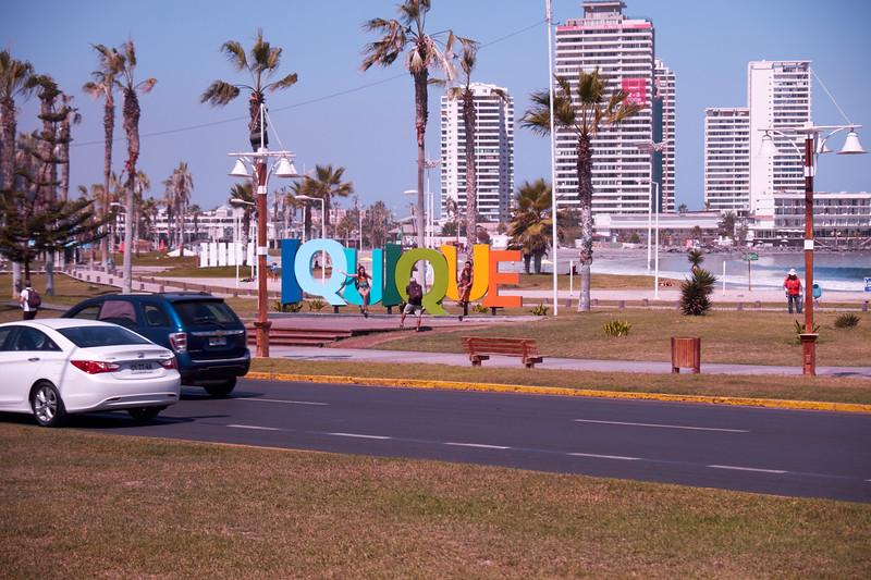 Beginning of seaside walk (from bus).