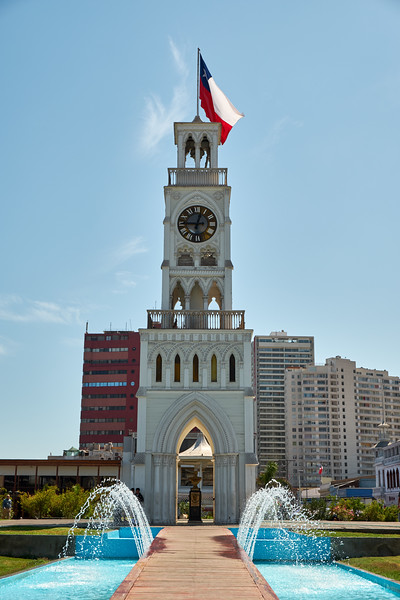 Clock Tower at Plaz Prat, center of downtown.