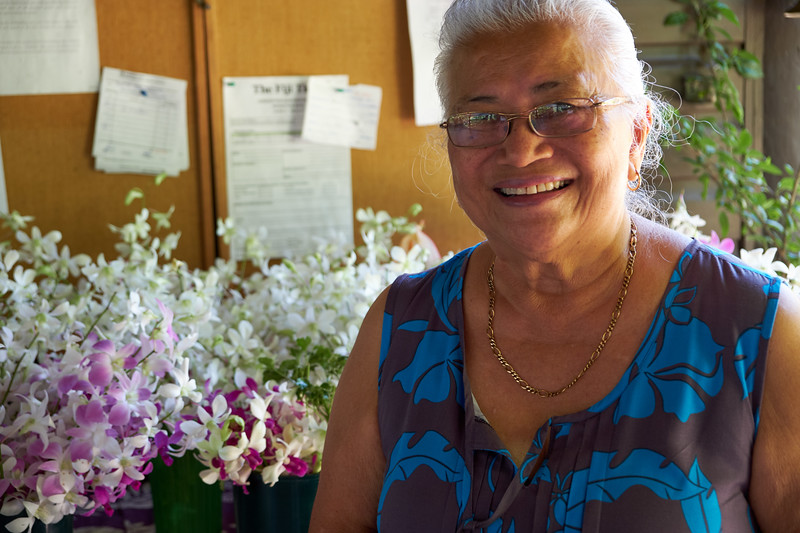 Aileen Burness's plan is to give back to the people of Fiji. She empowers local women by training them to cultivate highly desirable flowers for the local markets.