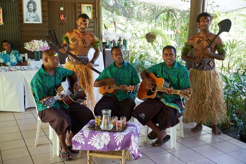 The warriors greeted us and the band serenaded us at a traditonal morning tea.