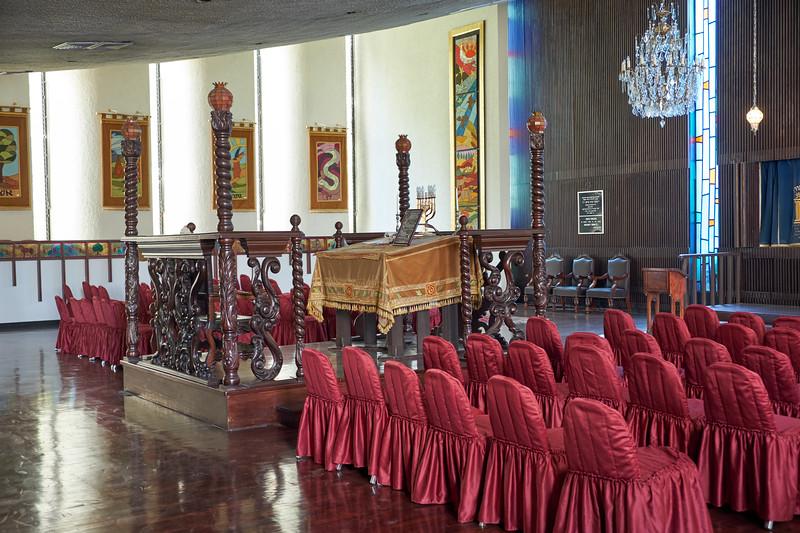 Interior of Sharon Synagogue.