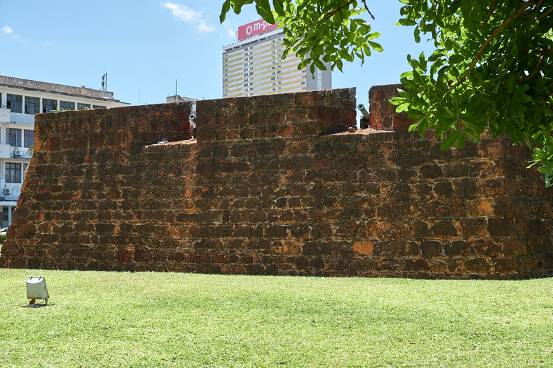 Fortaleza built by Portuguese in 1787 to defend against French Pirates.