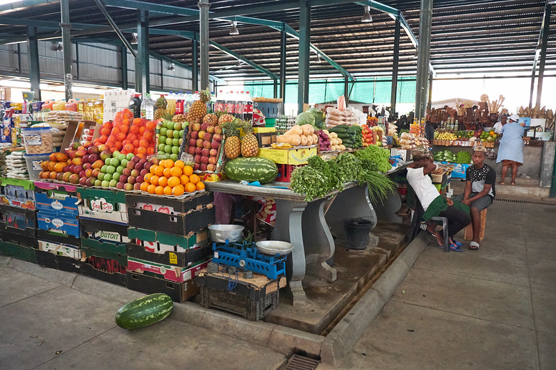 Central Market houses a wide variety of food such as fruites, nuts, fish, meats, herbs and spices.