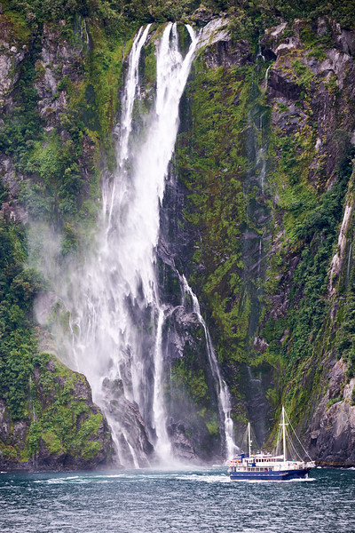 Stirling Falls in Milford Sound.