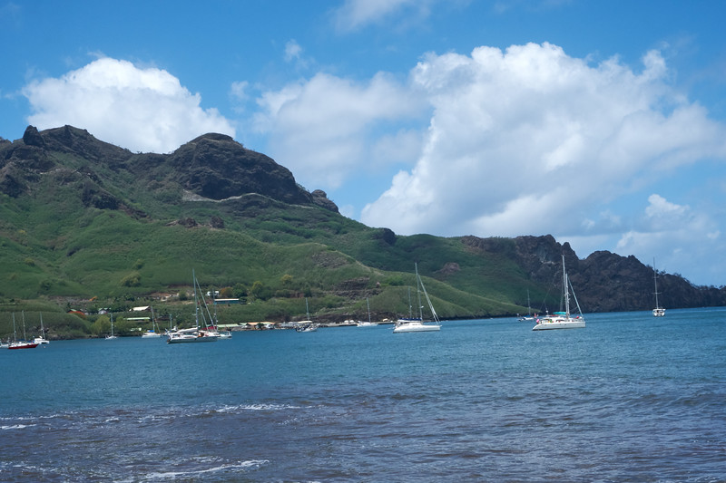 Marquesas Islands are high islands with no protective coral reef.