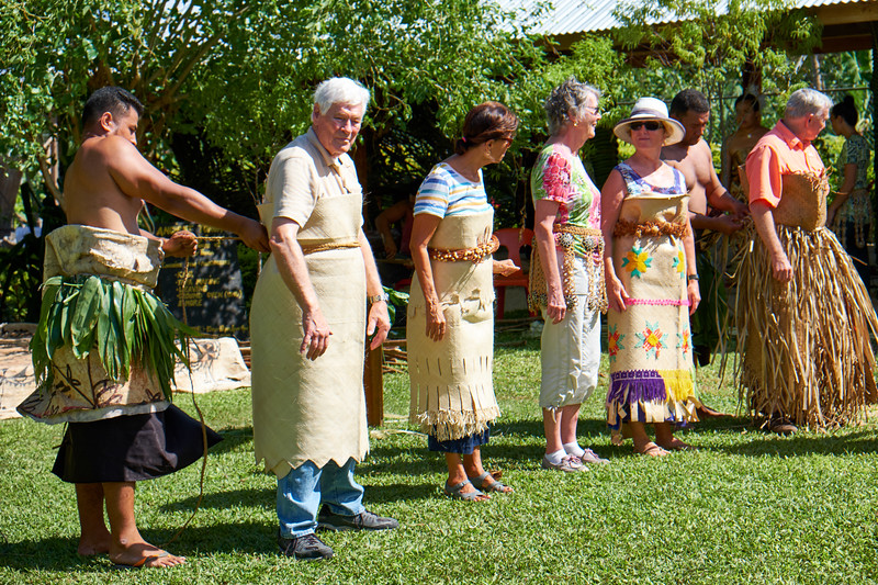 Ta'ovala is the traditional woven mat that is worn to show respect and authority.
