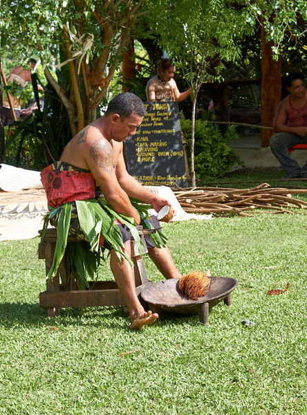 This is the ancient way of shredding coconut.