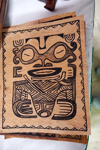 Hand painted tapa.