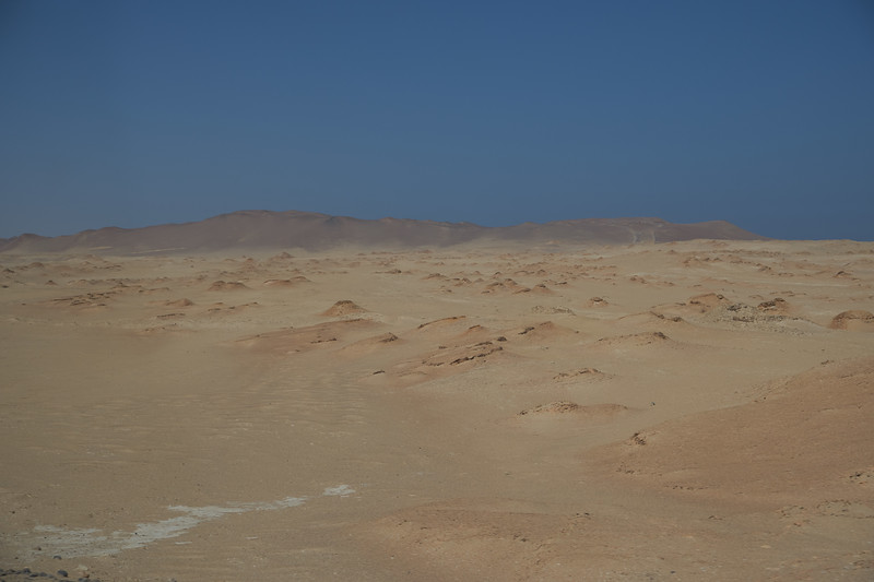 View of landscape in the National Park of Paracas (from bus).