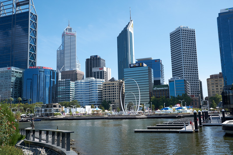 The Perth Central Business District and Elizabeth Quay.