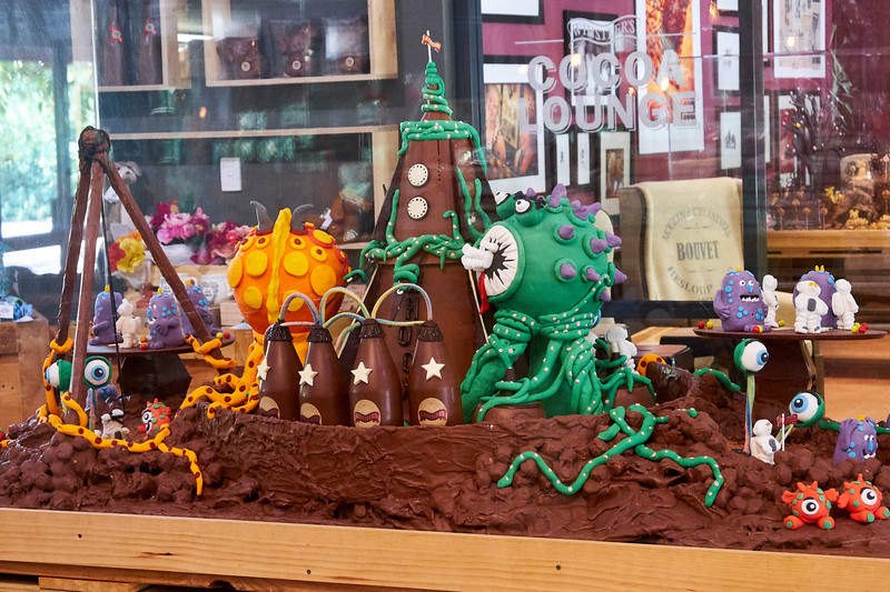 Decorative chocolate display at Whistlers Chocolate Shop in Swan River Valley.