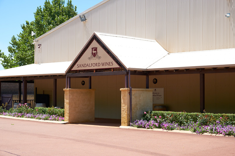 Entrance to Sandalford Winery.