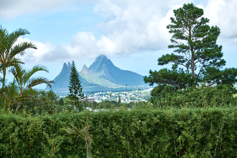 View of the southern part of Mauritius.