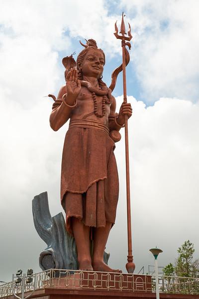 Mangal Mahadev is 108 feet tall statue of Hindu god Shiva. It is the tallest statue in Mauritius.