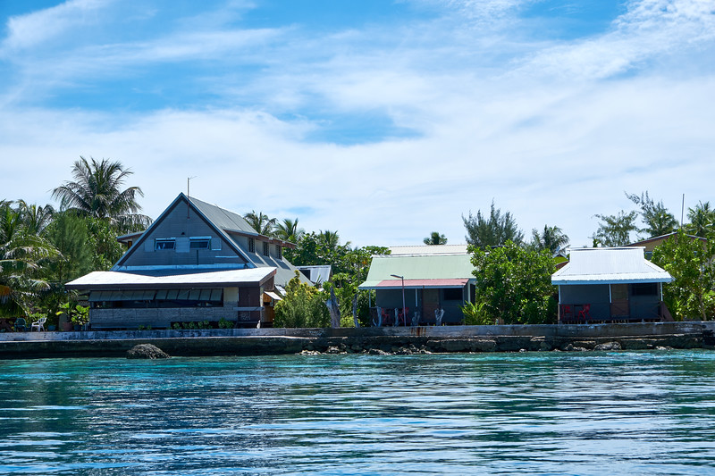 One of two villages on Rangiroa.