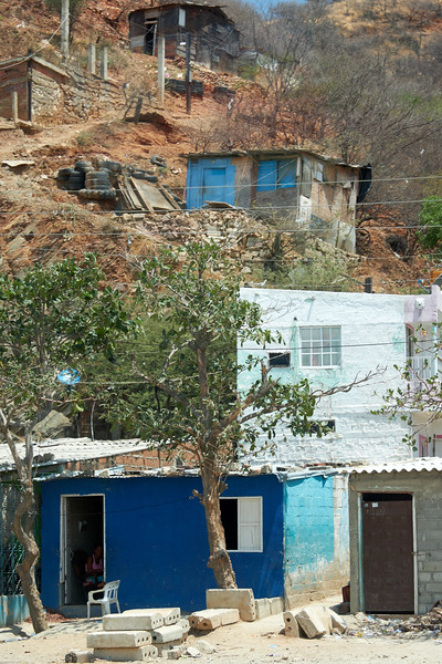 Typical houses on the drive from Santa Marta to Taganga and La Playa Beach.