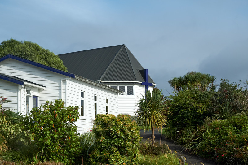 Anglican Church, one of two churches on the island. This one is the oldest  (from the bus).