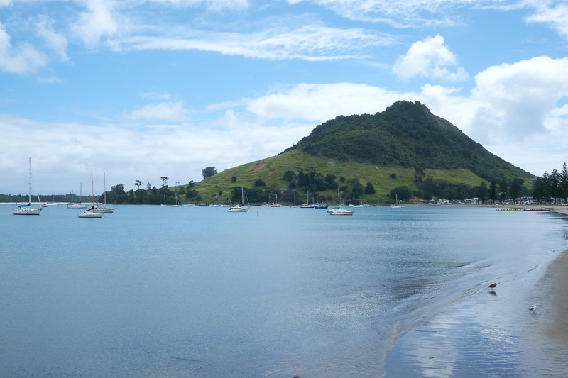 Mount Maunganui is an extinct volcanic cone at the eastern entrance to the Tauranga Harbor.