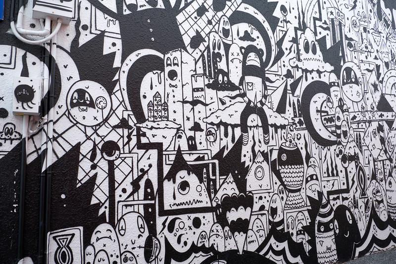 Black and White Graffiti.