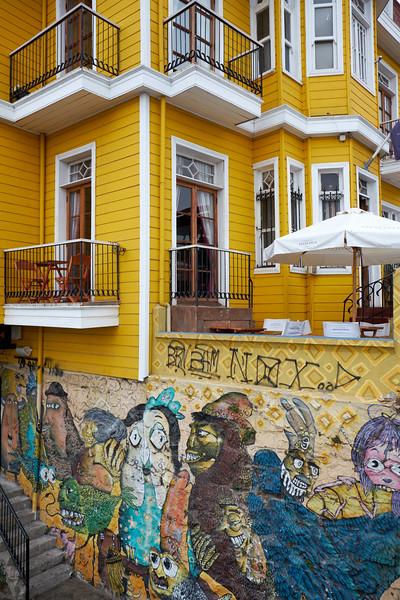 Typical restaurant in the hillside neighborhoods of Valparaiso.