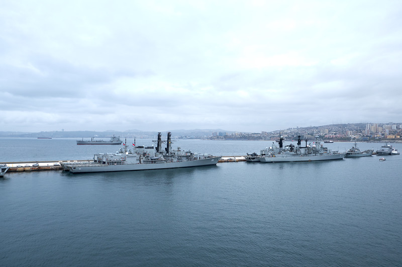 The navy is very important to Valparaiso. Our guide said every mother hopes her daughter marries a navy man because of the prestige and benefits.