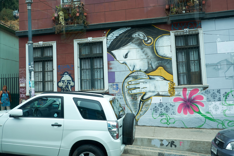 More incredible street art (from the bus).