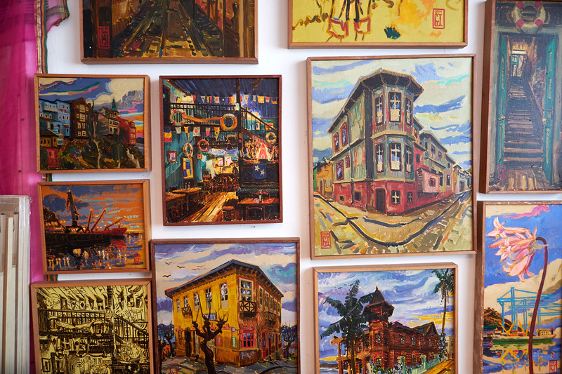 These Valparaiso paintings are of the hillside architecture, nightlife and the diversity of color found throughout the city.