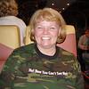 Nancy on train trip to Seward - 28 May 2003