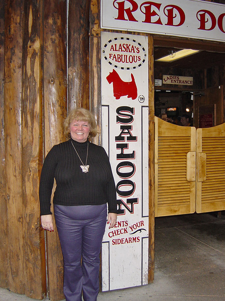 Nancy at the Red Dog Saloon in Juneau on Alaska Dance Cruise - 31 May 2003