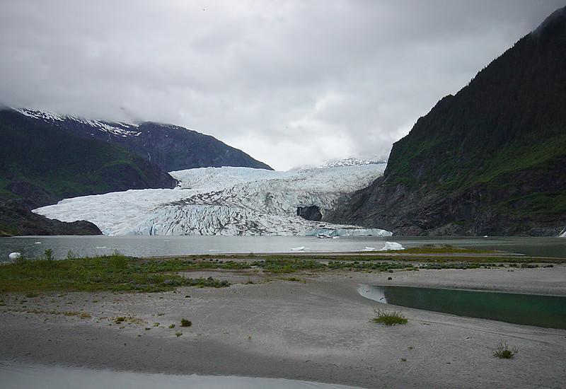 Nancy at Mendenhall Glacier on Alaska Dance Cruise - 31 May 2003