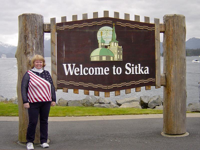 Nancy in Sitka on Alaska Dance Cruise - 30 May 2003
