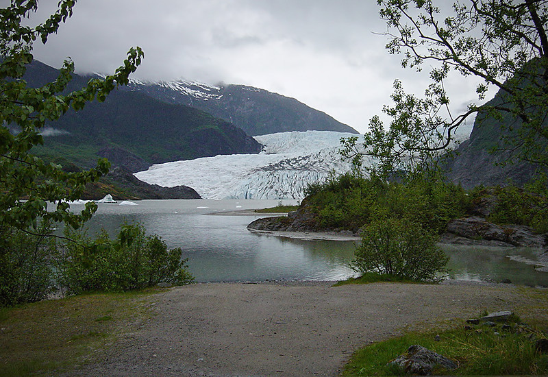 Mendenhall Glacier in Juneau on Alaska Dance Cruise - 31 May 2003