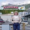 Nancy in Ketchikan on Alaska Dance Cruise - 2 June 2003