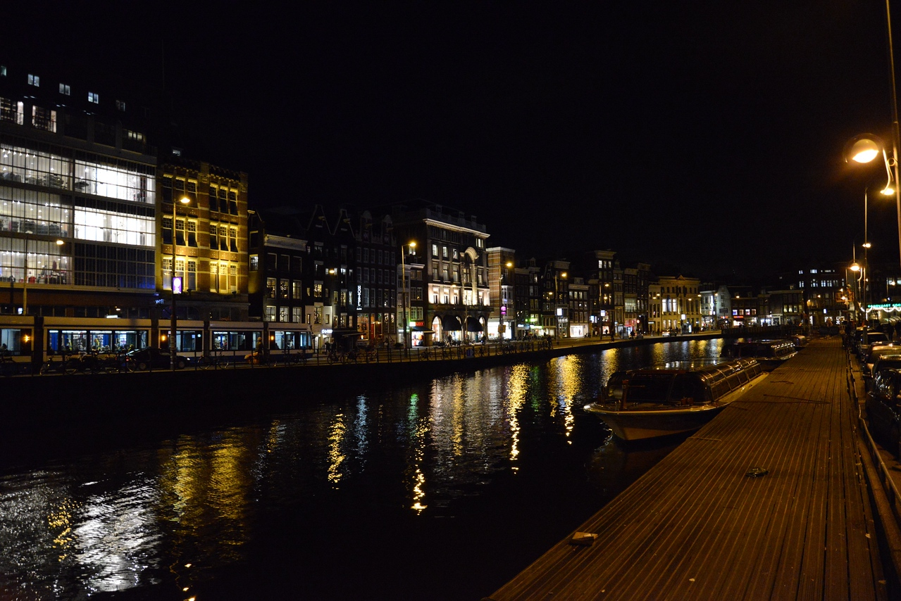 Amstel River at Night.