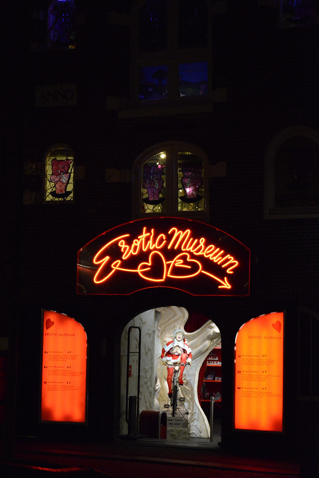 Sights in Red Light District.