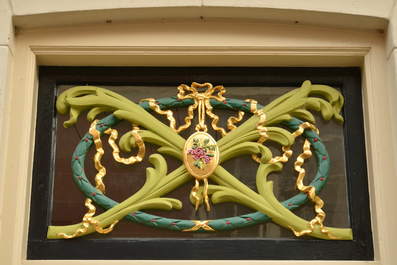 Typical Decoration Over Front Door.
