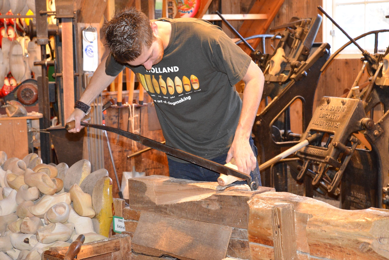 The Ends Are Cut Off The Traditional Way, By Hand and With a Saw.