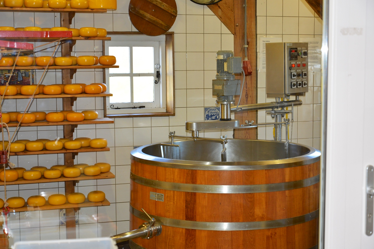 Mixing Cheese.