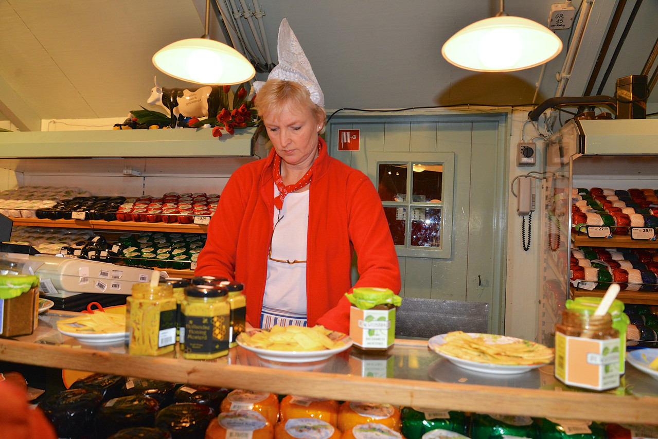 Tasting Cheese in The Store.