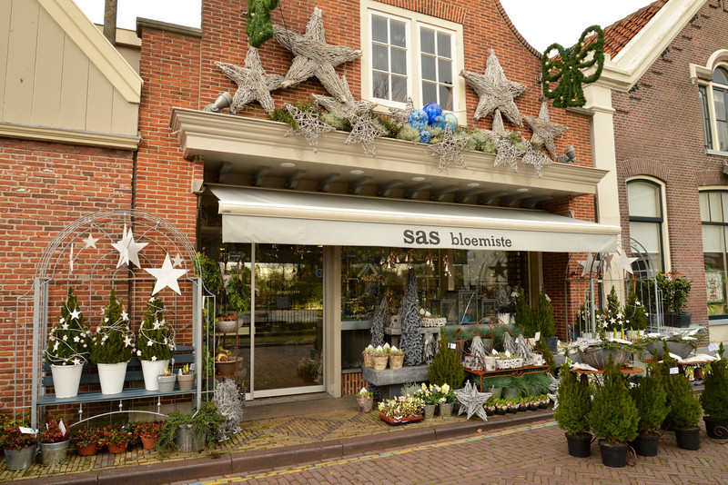 Floral Shop With A Lot of Christmas Decorations.